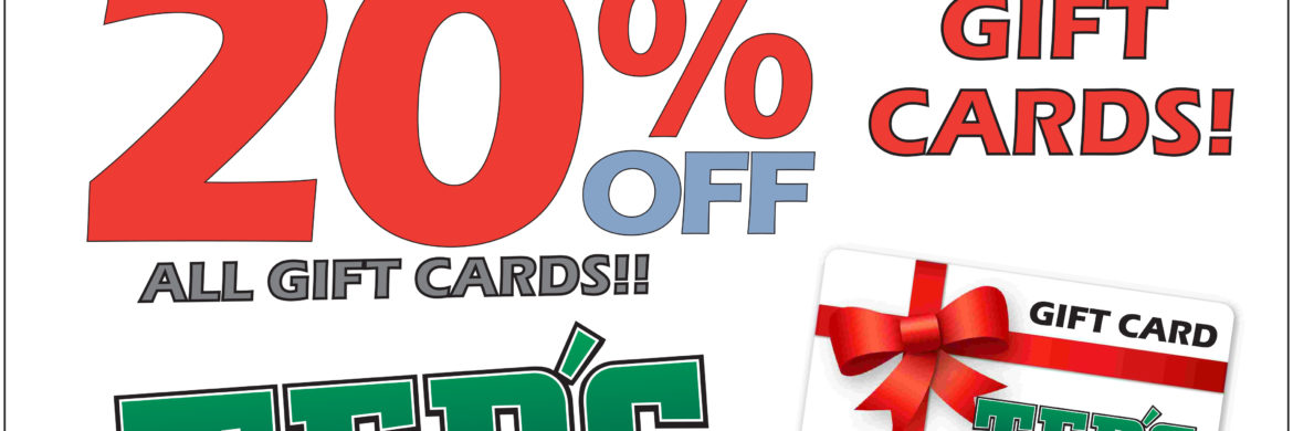 Gift Card Sale 20 Off This Weekend Only Ted S Shoe Sport